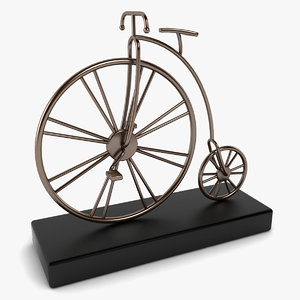3d model bike desk decoration