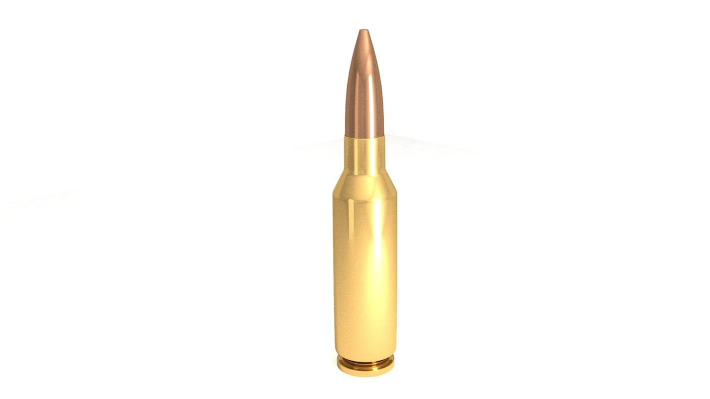 3d 30 millimeter bullet