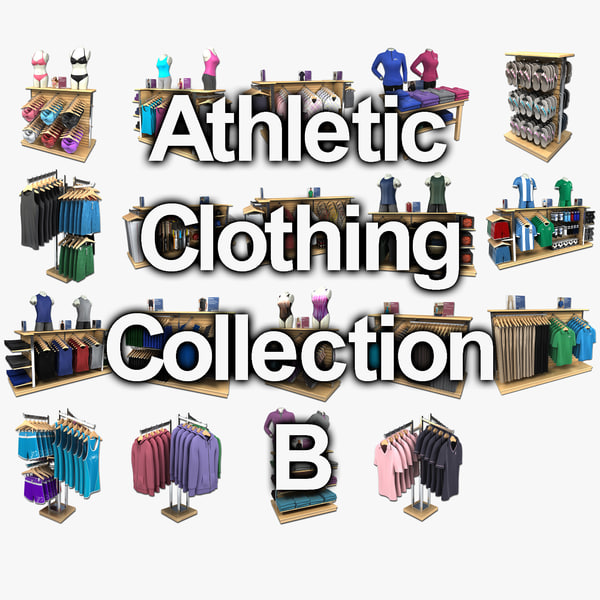 athletic clothing collections 3d model