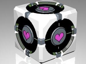 3d cube portal model