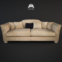 photorealistic 3-seater sofa daniel 3d dwg