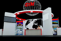 3d model exhibition md design