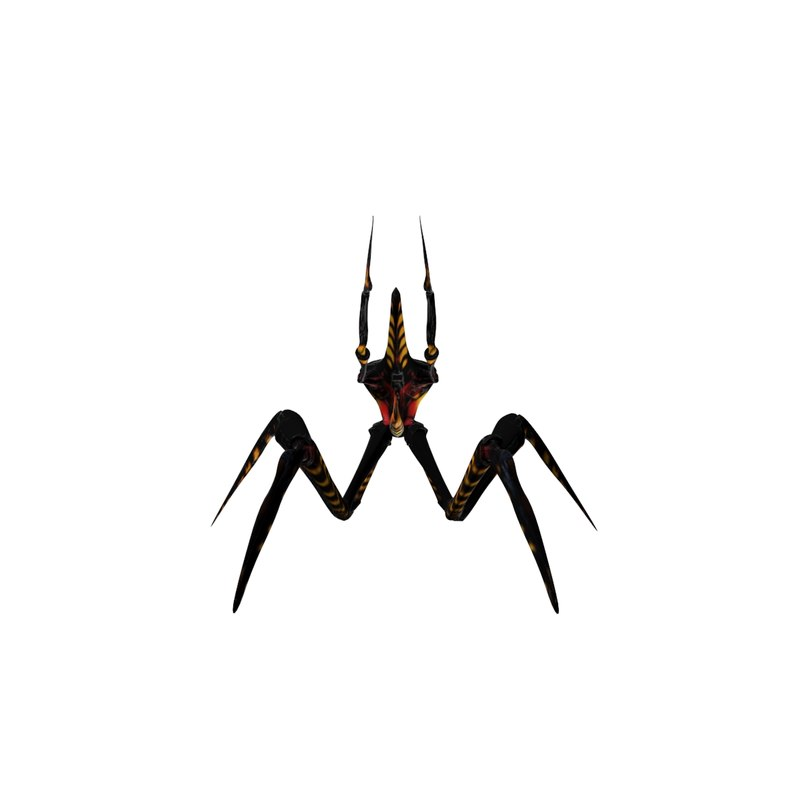 3dsmax arachnid starship troopers modeled