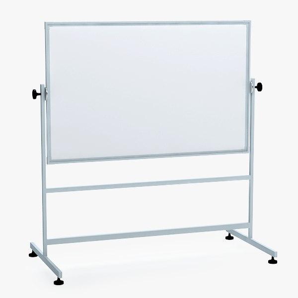 whiteboard board 3d max