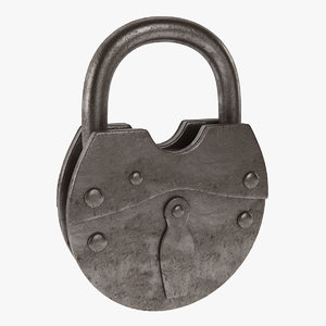 3ds max padlock lock pad