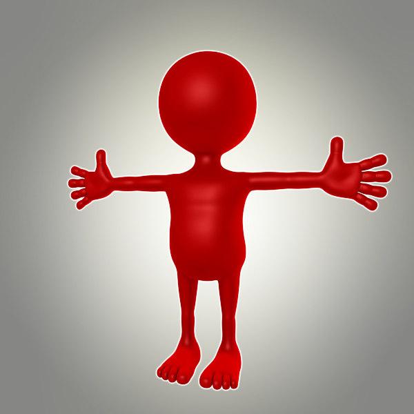 3d model of cartoon male dummy
