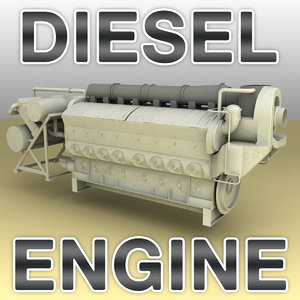 emd 710 diesel engine 3d model