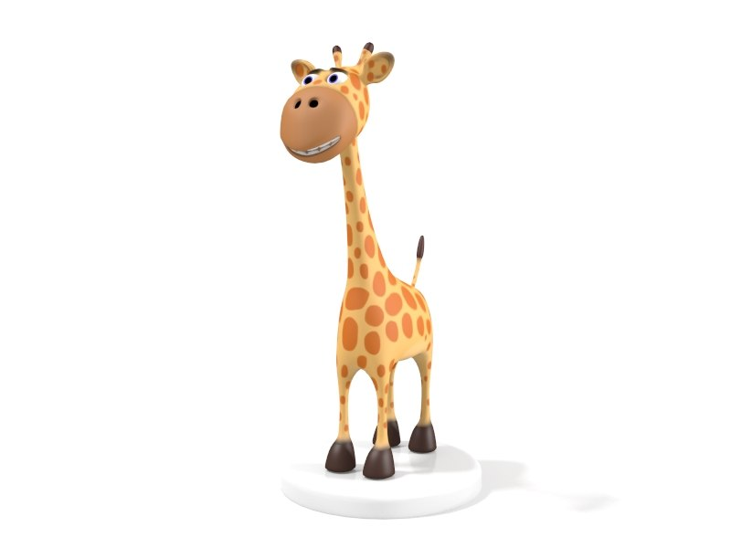 3d model cartoon giraffe