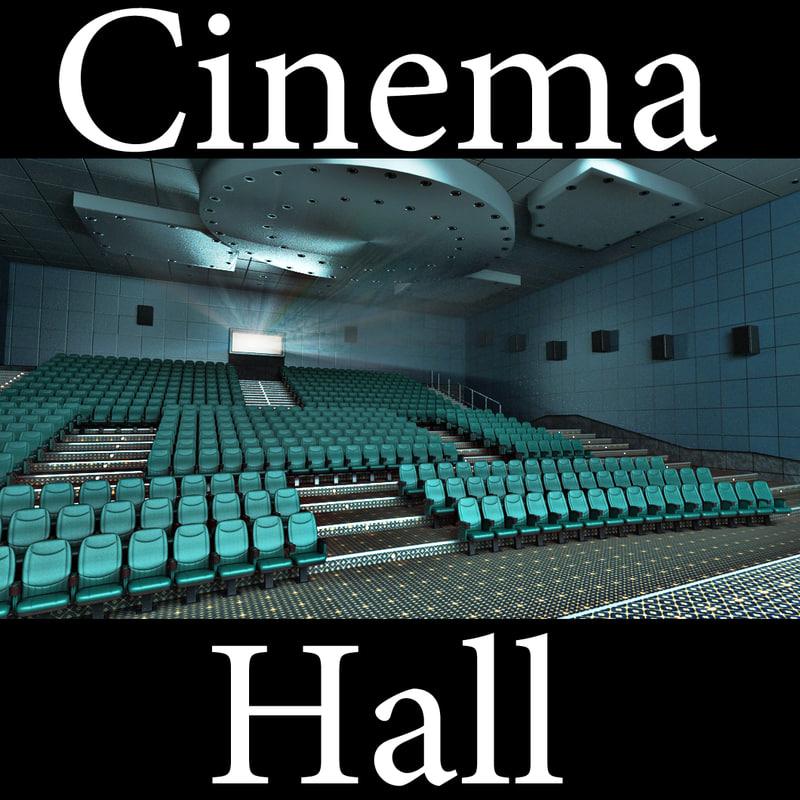 3d model hall movie