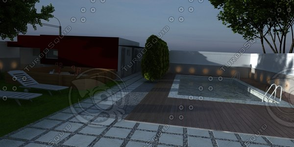 pool 01 3d 3ds
