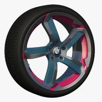 3d wheel rim sport model