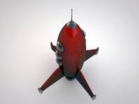 space rocket 3d model