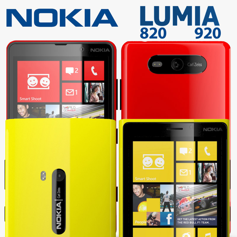 nokia lumia 920 820 3d max