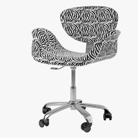 red swivel chair 3d model