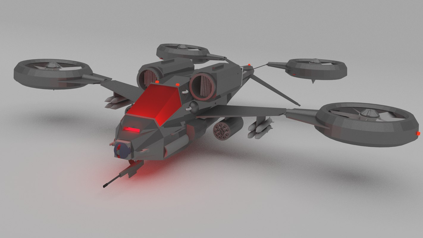 3ds max helicopter futuristic