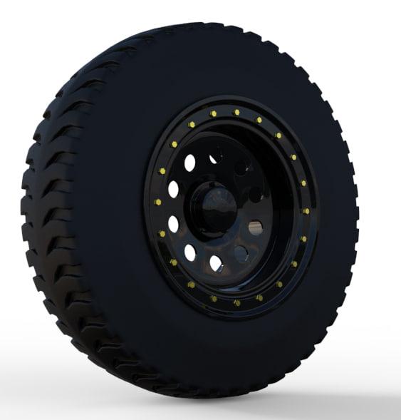 3d max 4x4 wheel