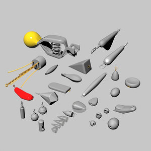 3ds max assortment weights fishing
