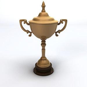 trophy gold 3d c4d