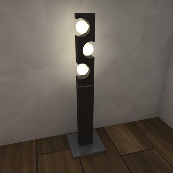 3d model of lamp luminance