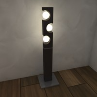 3d model of lamp luminance