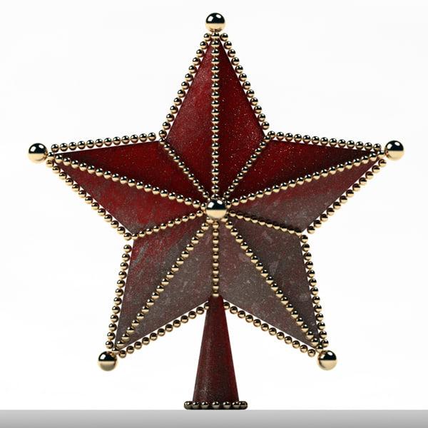 ornaments tree star 3d dwg