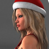 Sexy Santa Woman Rigged