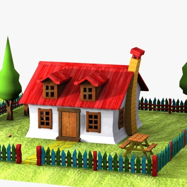 cartoon house toon 3ds