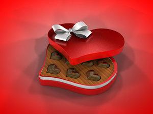 heart chocolate c4d