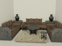 3d sitting room model