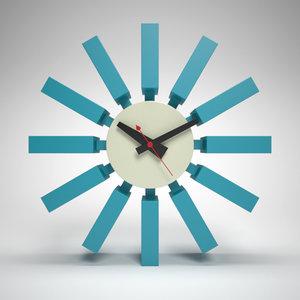 3d model nelson block clock george