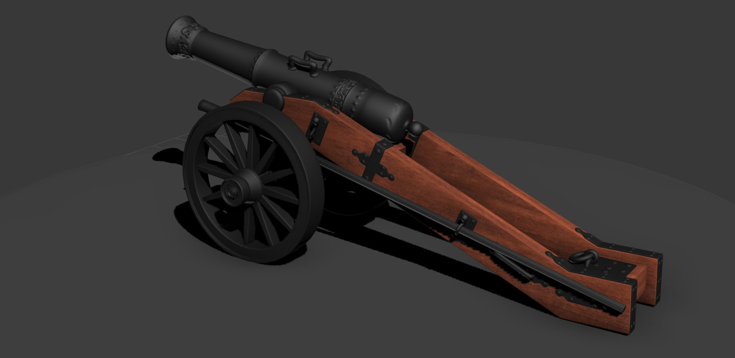 medieval cannon 3d model