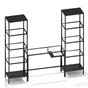 3d model ikea laptop table shelving unit
