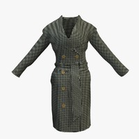 Womens Checkered Winter Coat