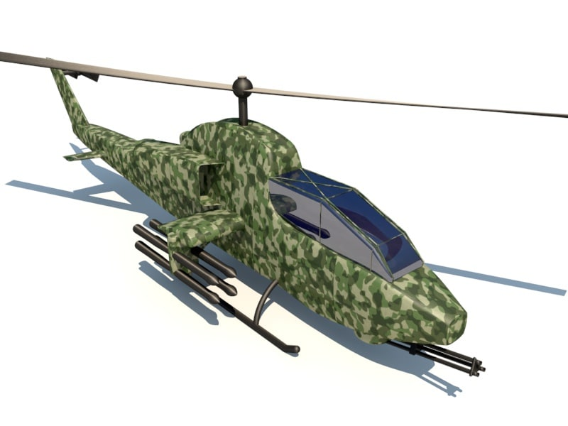 bell ah-1 cobra helicopter 3ds