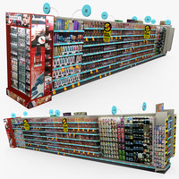 3d model retail - beauty aisle