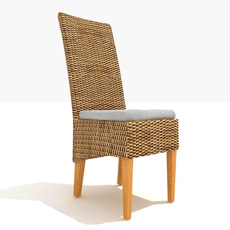 bordeaux rattan dining chair 3d max