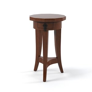 century chairside table 3d model
