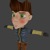 3d model chibi character