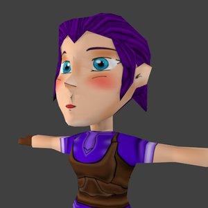 3d model chibi character girl