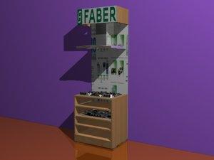 3d chimney hob display stand