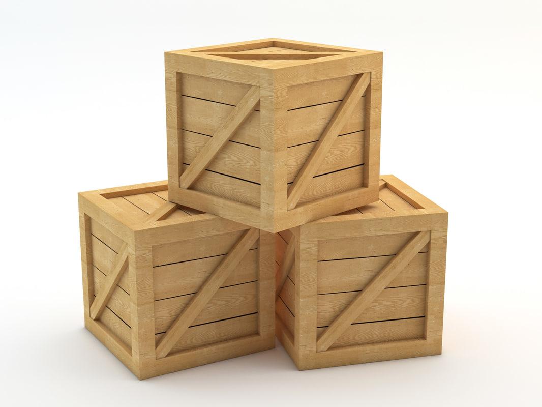 crate industrial 3d max