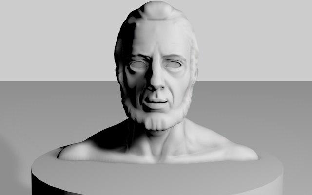 abraham statue 3d 3ds