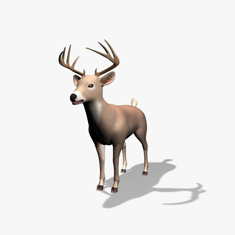 deer 3d dxf