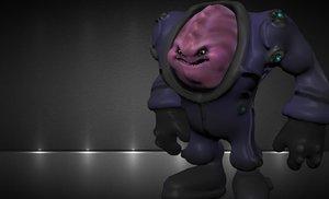 fat alien 3d obj