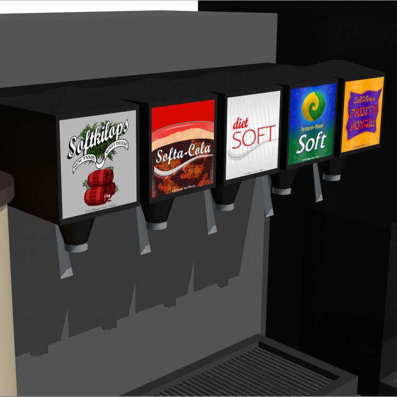 beverage drink station 3d c4d