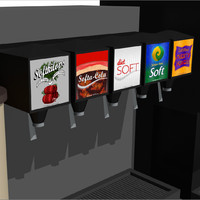 beverage drink station 3d c4d