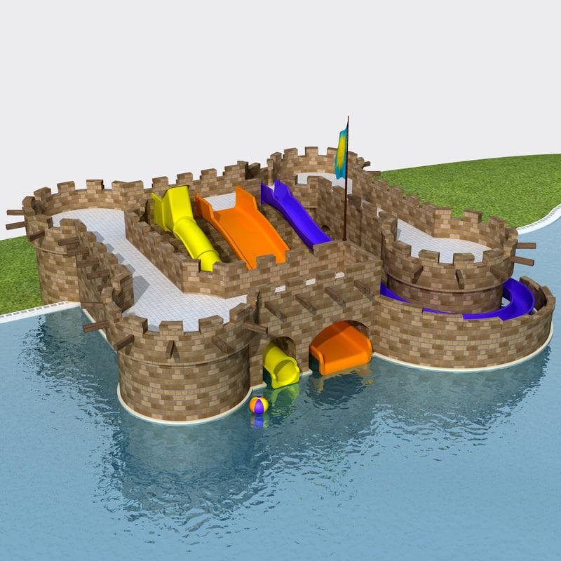 3d lwo water slides