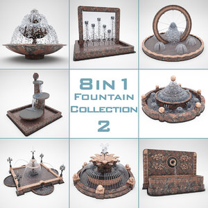 fountain 8 1 2 3d model