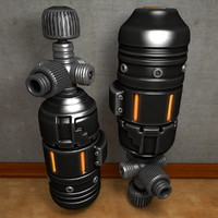 gas cylinder c4d