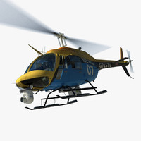 bell helicopter news media 3d model